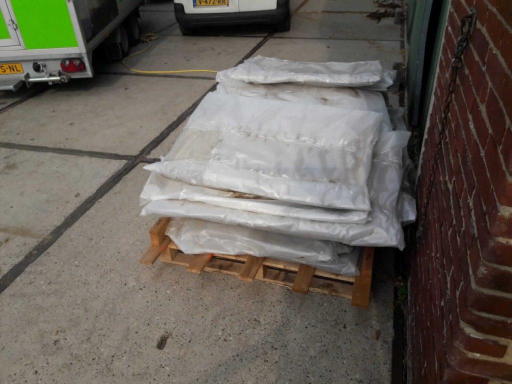 asbesthoudende vlakke plaat