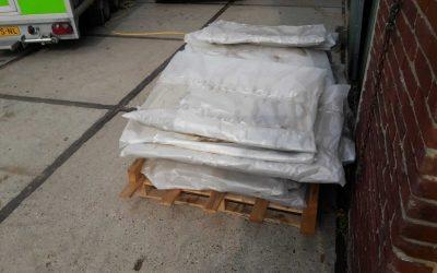 Sanering asbesthoudende vlakke plaat