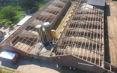 Asbesthoudend dak varkensstallen IJsselstein